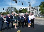 Will County officials celebrate new courthouse parking lot