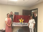 Gold Star Mother presents flag to Will County VAC