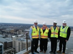Walsh, Joliet Mayor, and county board leaders tour new Will County courthouse construction site