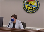 County Executive Jennifer Bertino-Tarrant presides over her first monthly county board meeting