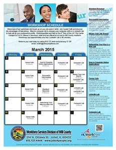 Workforce Services Division releases March workshop schedule