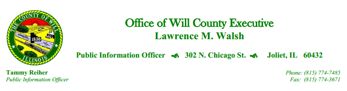 Will County Executive Letterhead - T. Reiher