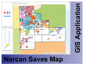 Will County Narcan Saves Map