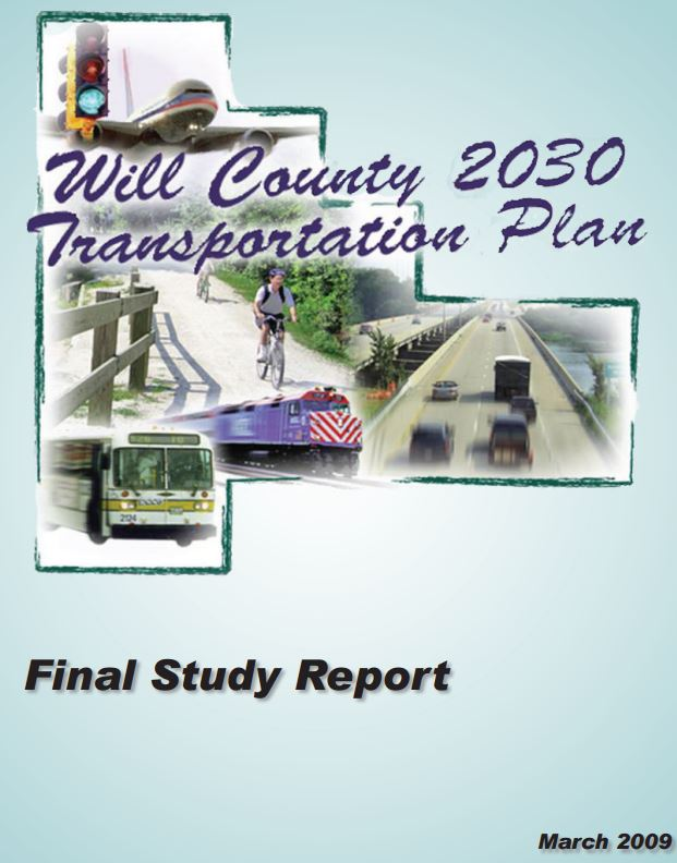 Will County 2030 Long Range Transportation Plan Cover