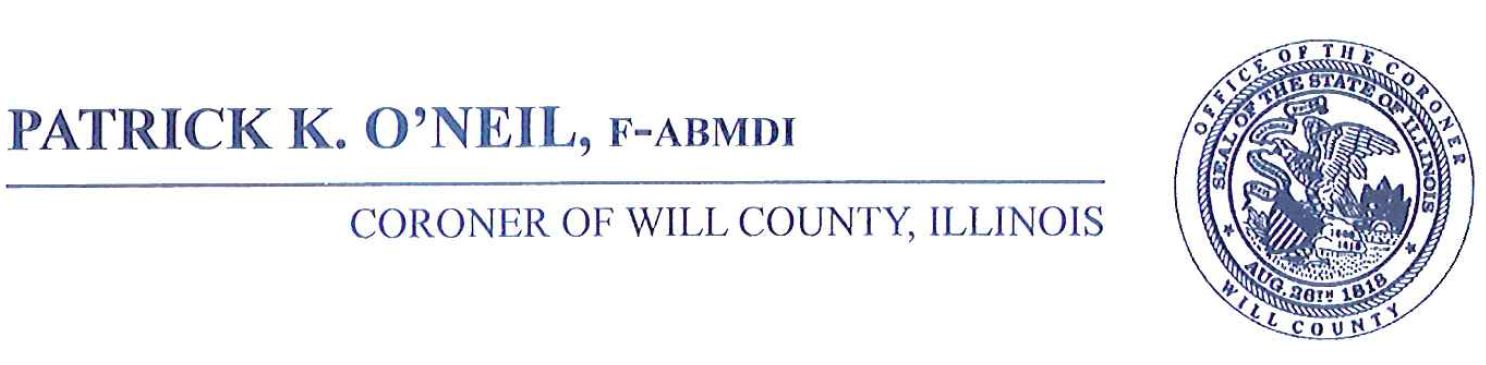 will county illinois > county offices > judicial services > coroner
