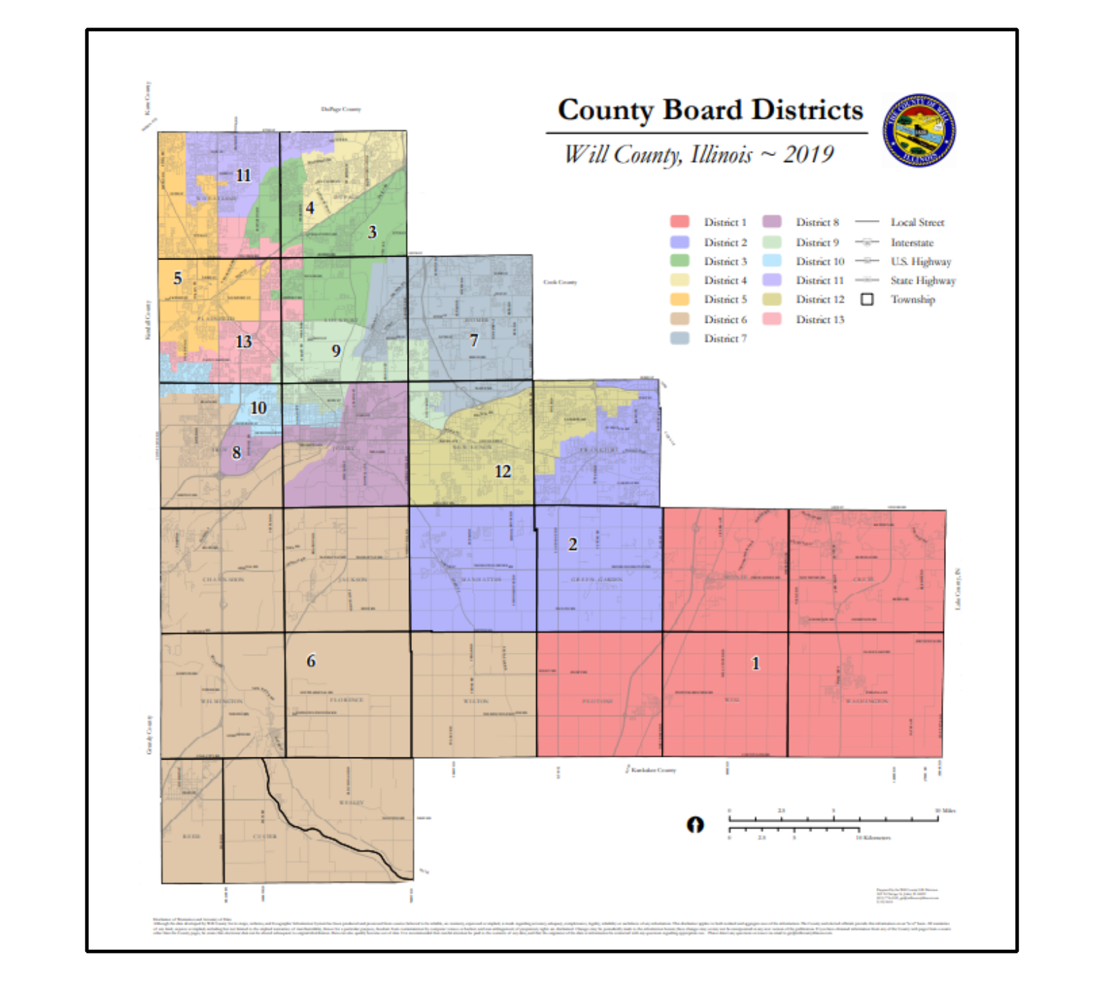 County Board Districts 2018