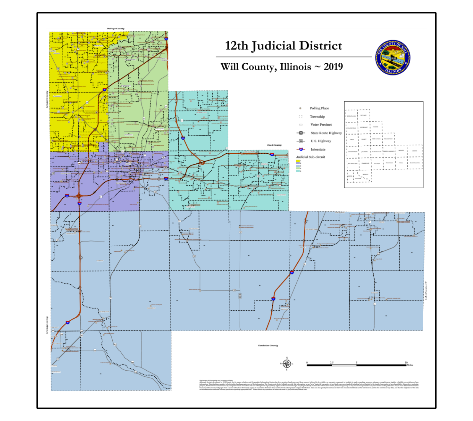 Will County 12th Judicial District map