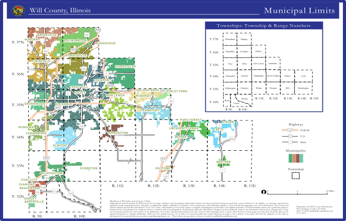 Will County Illinois Municipal Limits Map