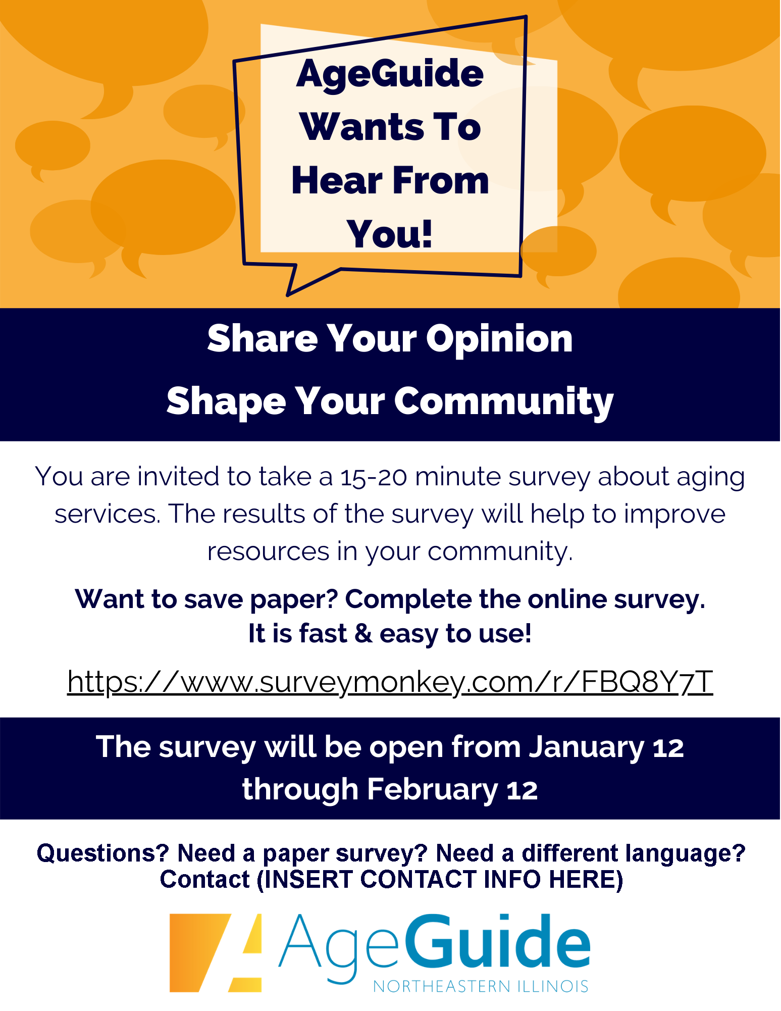 Age Guide Assessment Survey