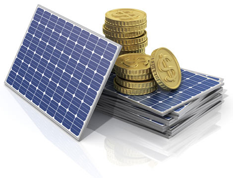 Solar panels w/ coins