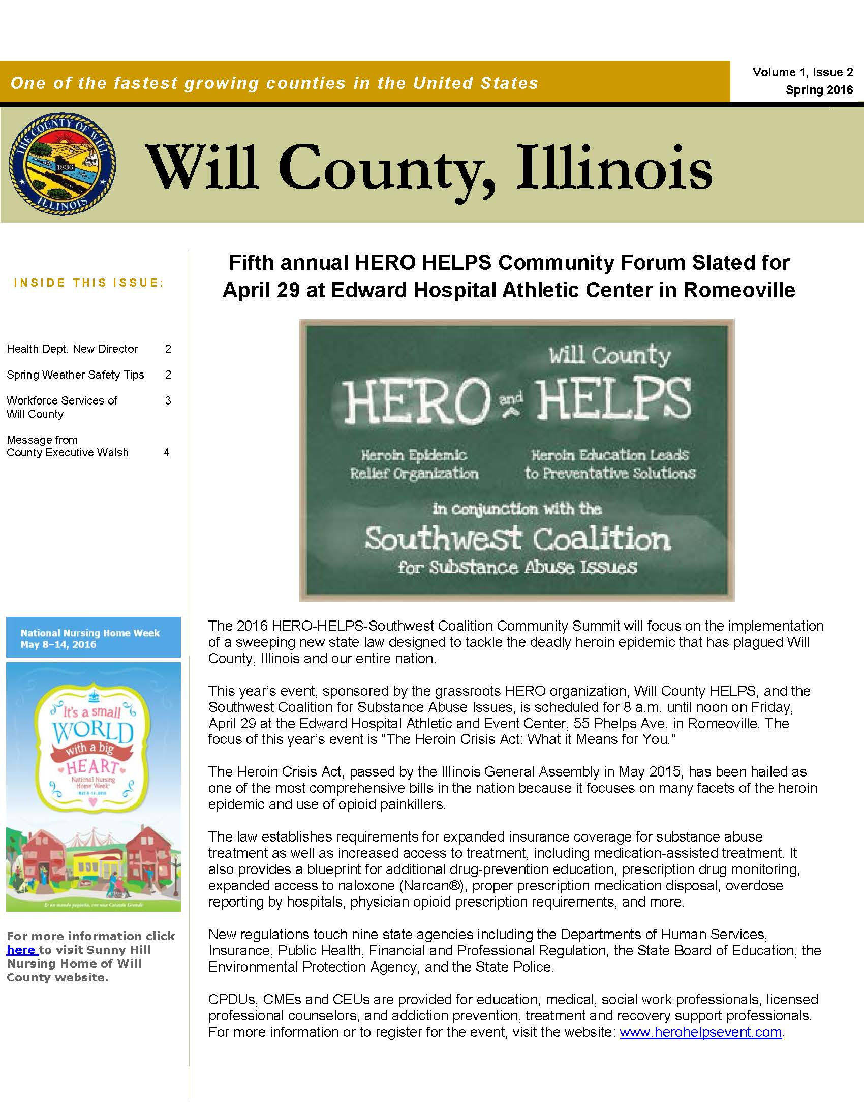 Will County Newsletter Winter Edition