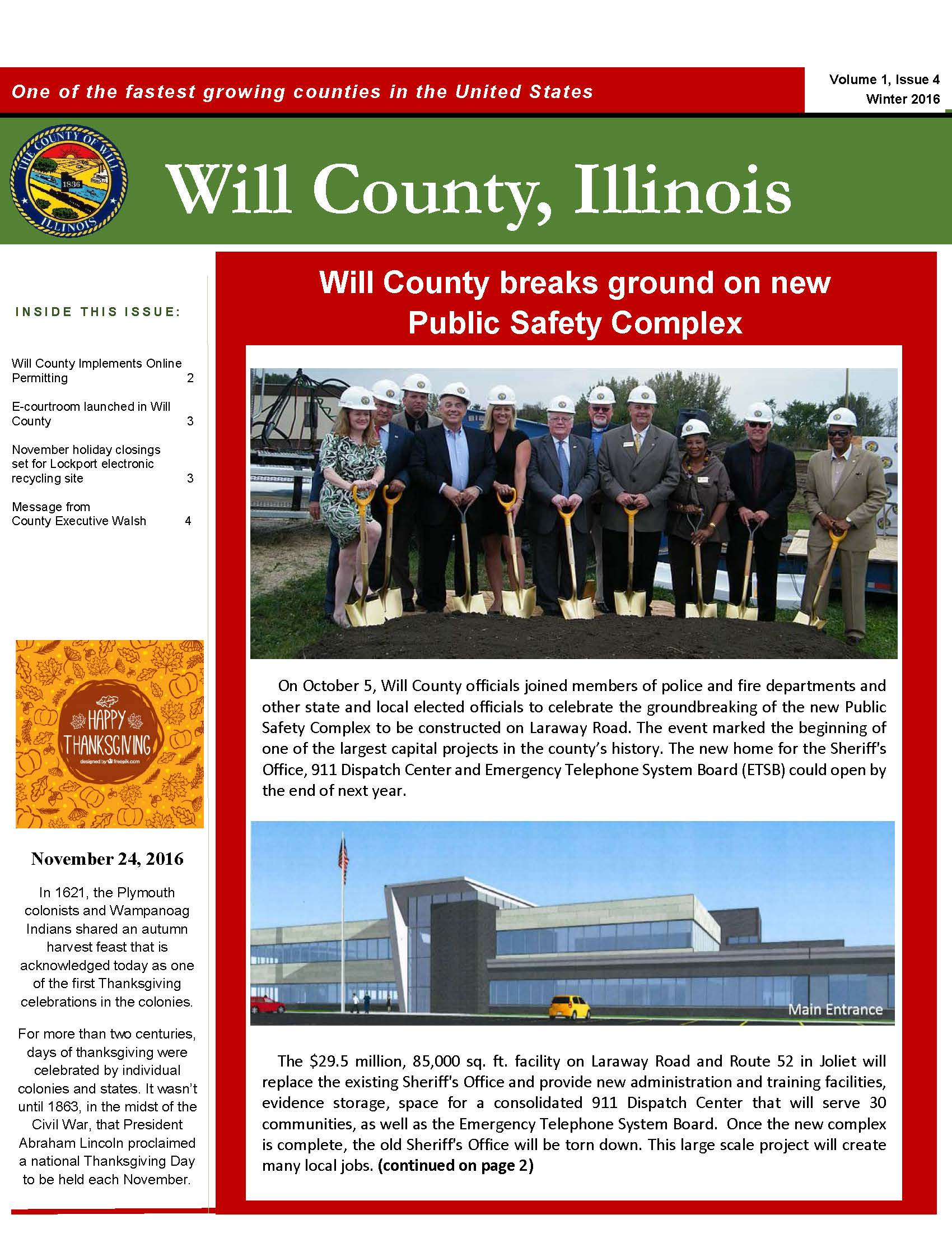 2016 Will County Summer Newsletter