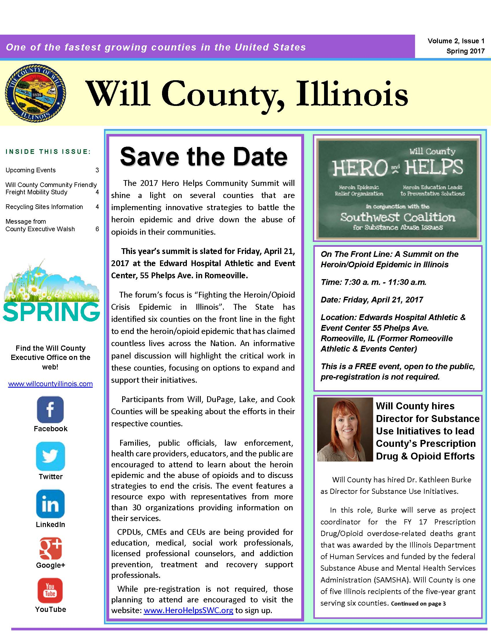 2017 Will County Spring Newsletter